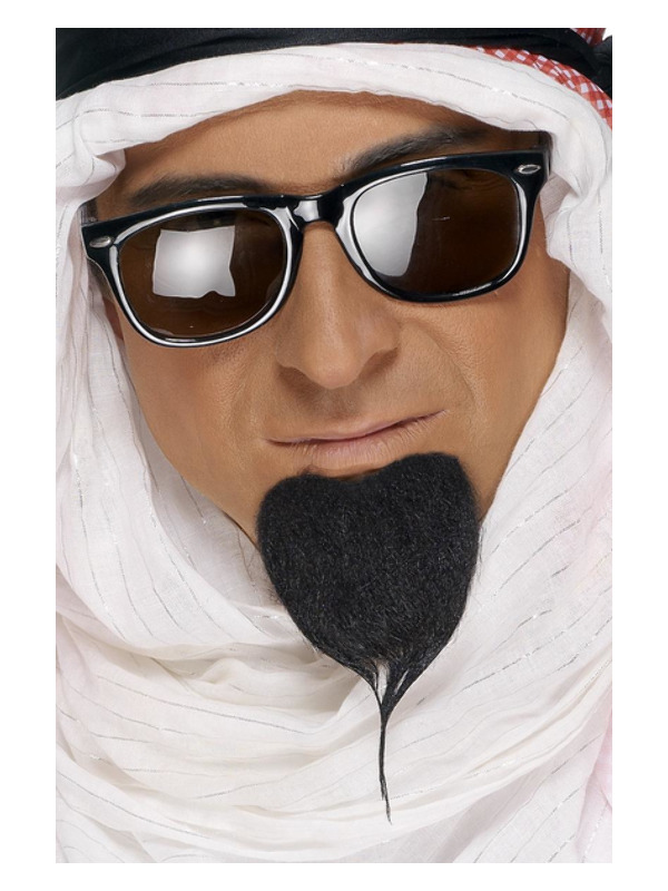 Fake Sheikh Beard, Black, Self-Adhesive