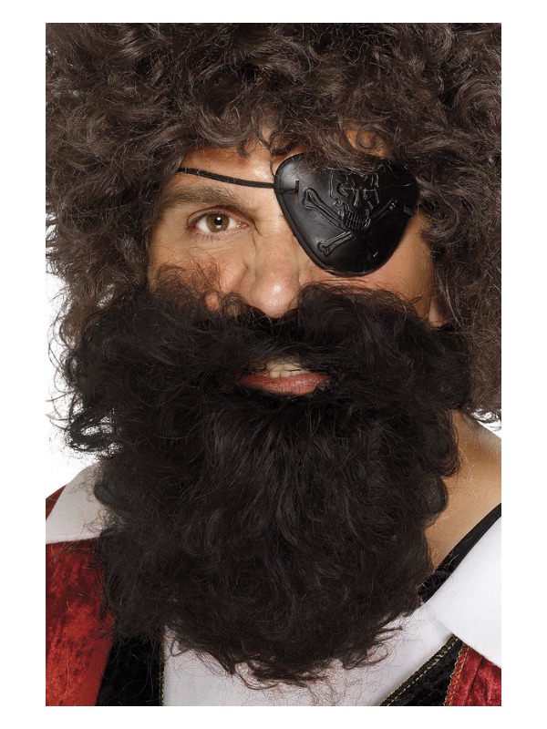Deluxe Pirate Beard, Brown, Nylon