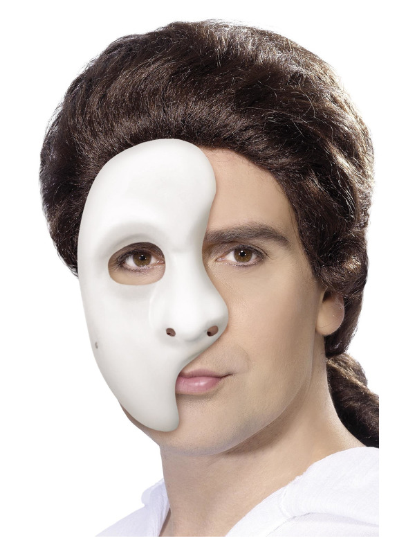 Phantom Mask, White, 1/2 Mask