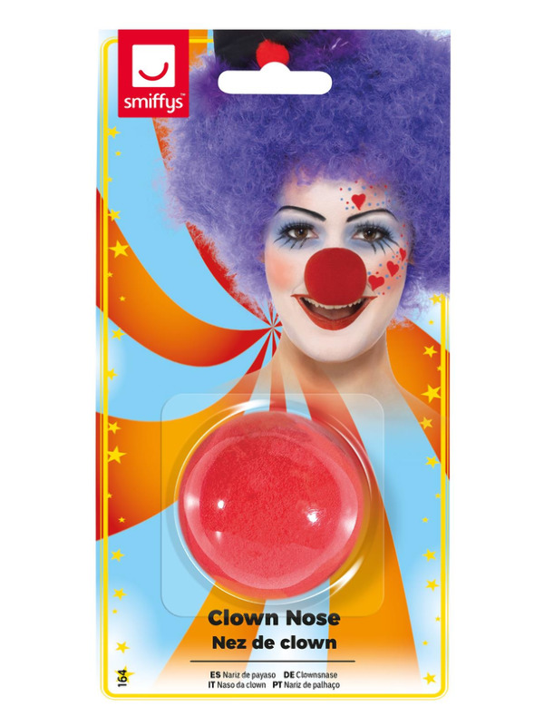 Clown Nose, Red, Sponge