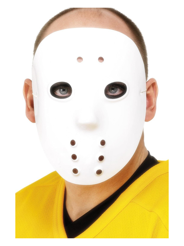 Hockey Mask, White, PVC