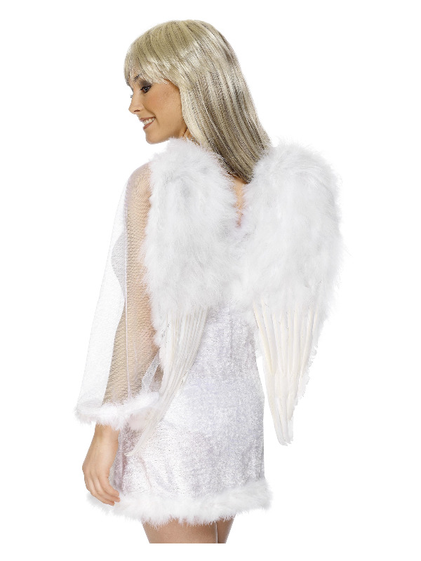 Angel Wings, White, Feathered, 50cmx60cm / 20inx24in