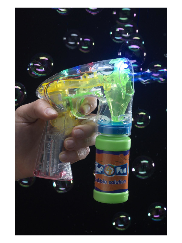 Bubble Gun, Light Up, Includes Bubble Pot and Batteries