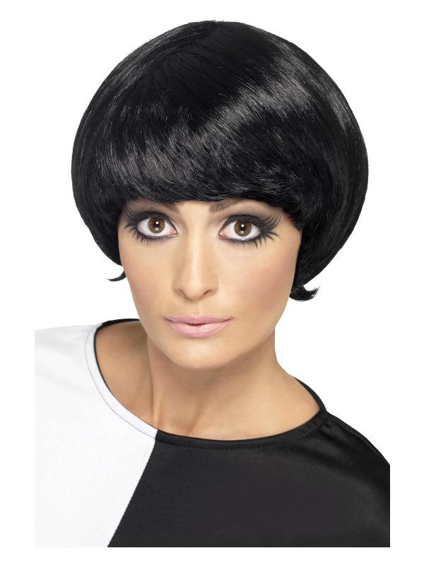 '60s Psychedelic Wig, Black, Short Bob