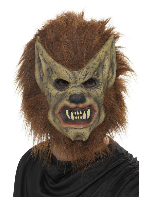Werewolf Mask, Brown, Foam Latex