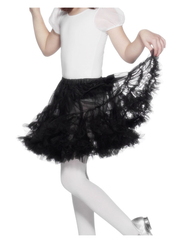 Petticoat, Child, Black, Layered