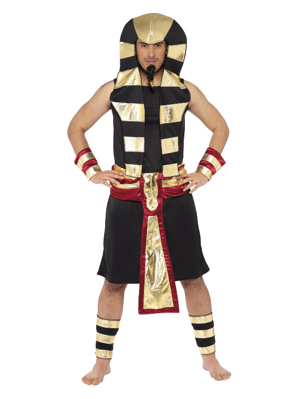 Pharaoh Costume, Black & Gold