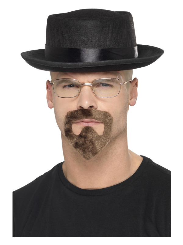 Heisenberg Kit, Black, with Hat, Glasses & Goatee