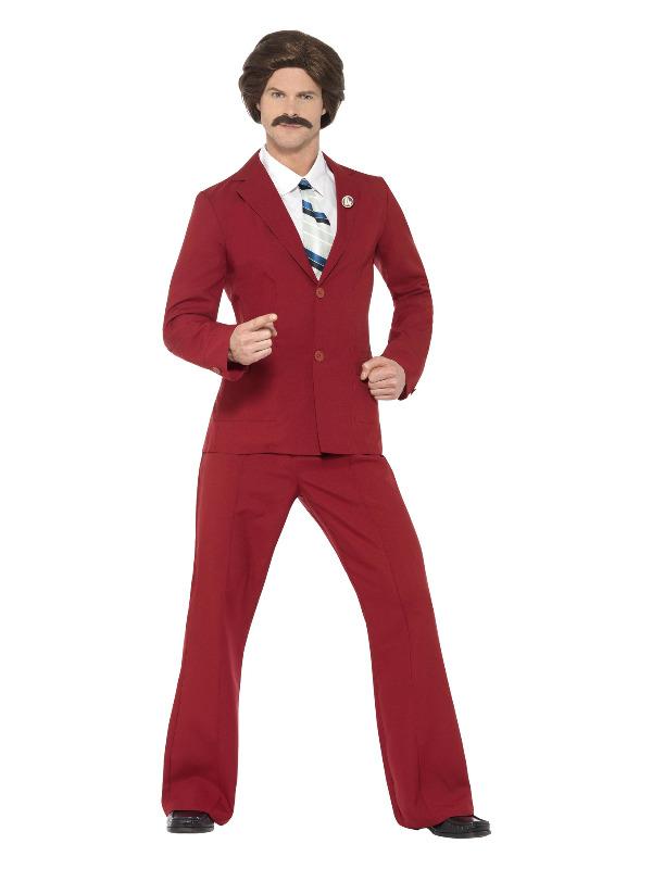 Anchorman Ron Burgundy Costume, Burgundy