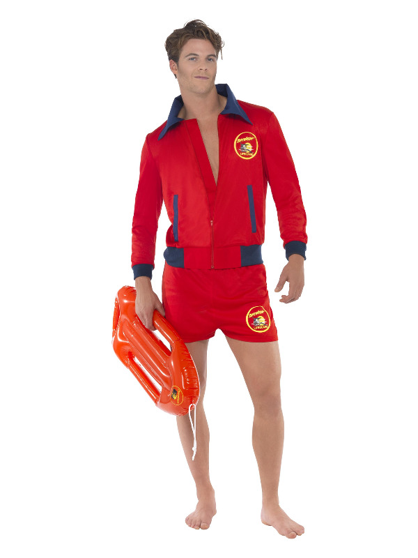Baywatch Lifeguard Costume, Red