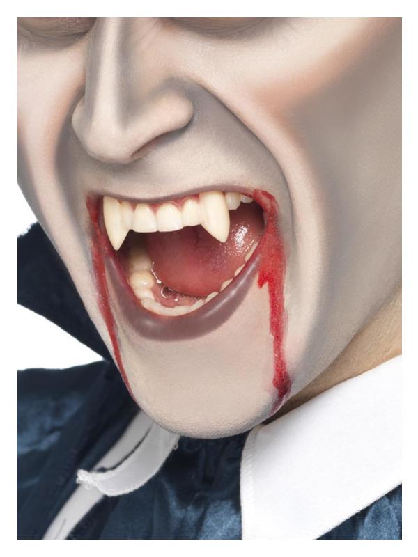 Smiffys Make-Up FX, Vampire Fang Tooth Caps, White