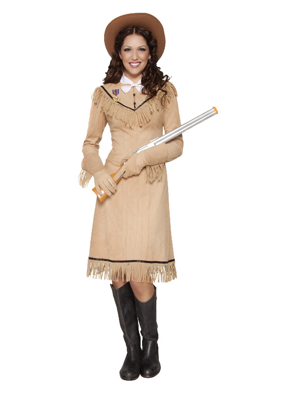 Western Authentic Annie Oakley Costume, Brown