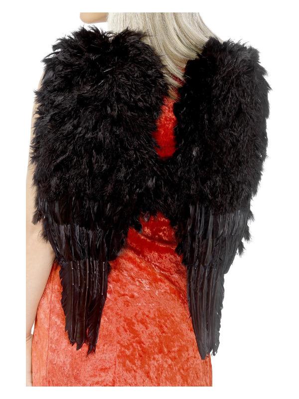 Feather Angel Wings, Black, 50cmx60cm / 20inx24in