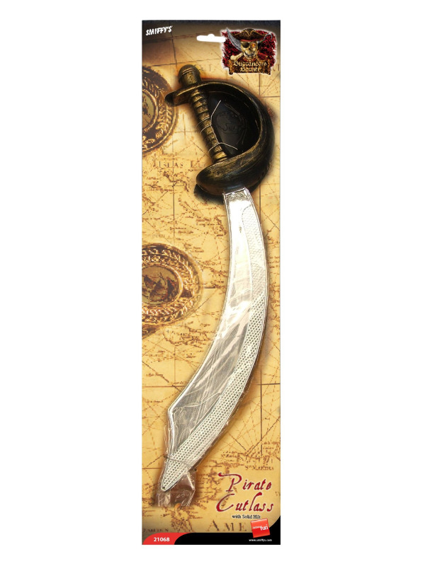 Eyepatch and Pirate Sword, Silver, Cutlass, 46cm / 18in