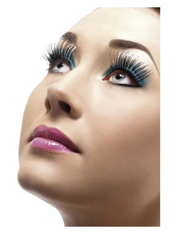 Eyelashes, Silver, Holographic, Contains Glue