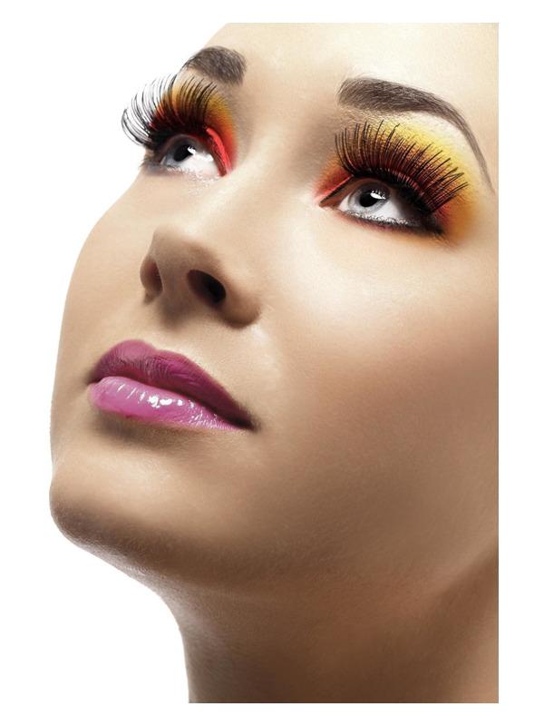 Eyelashes, Black, Contains Glue