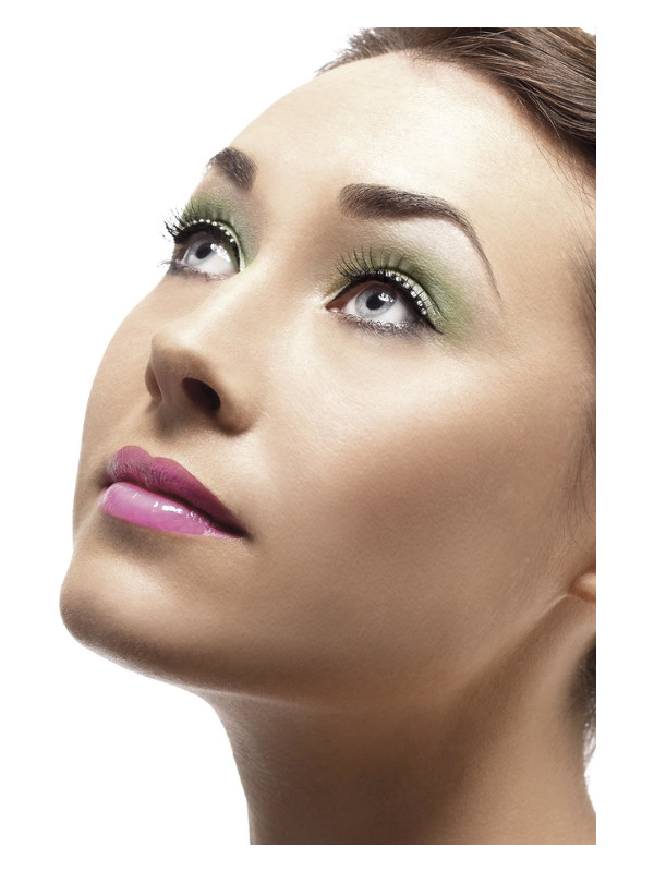 Eyelashes, Black, Diamante, Contains Glue