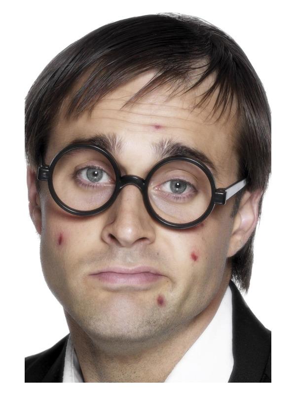 Schoolboy Specs, Black, No Lenses
