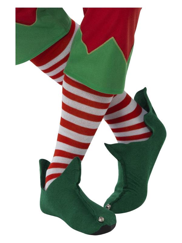 Striped Socks, Long, Red & White