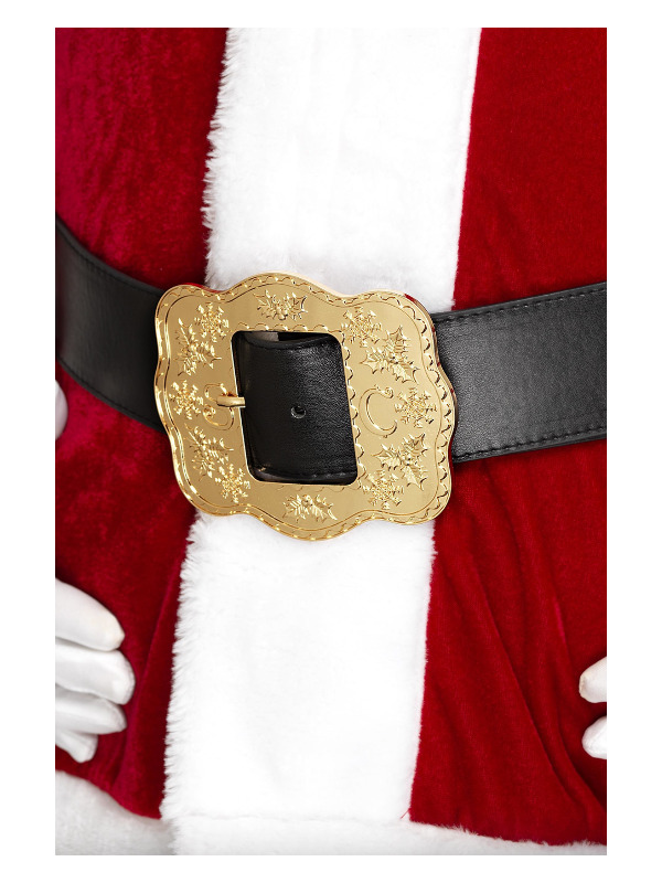 Deluxe Santa Belt, Black, with Ornate Buckle, 130cm/51in