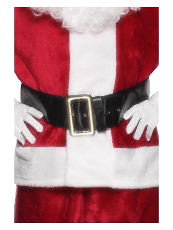 Santa Belt, Black, with Gold Buckle, 145cm/57in