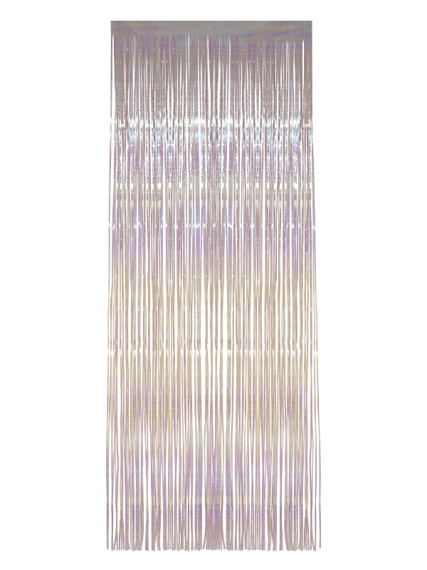 Shimmer Curtain, White, Iridescent, 91x244cm/36x96in