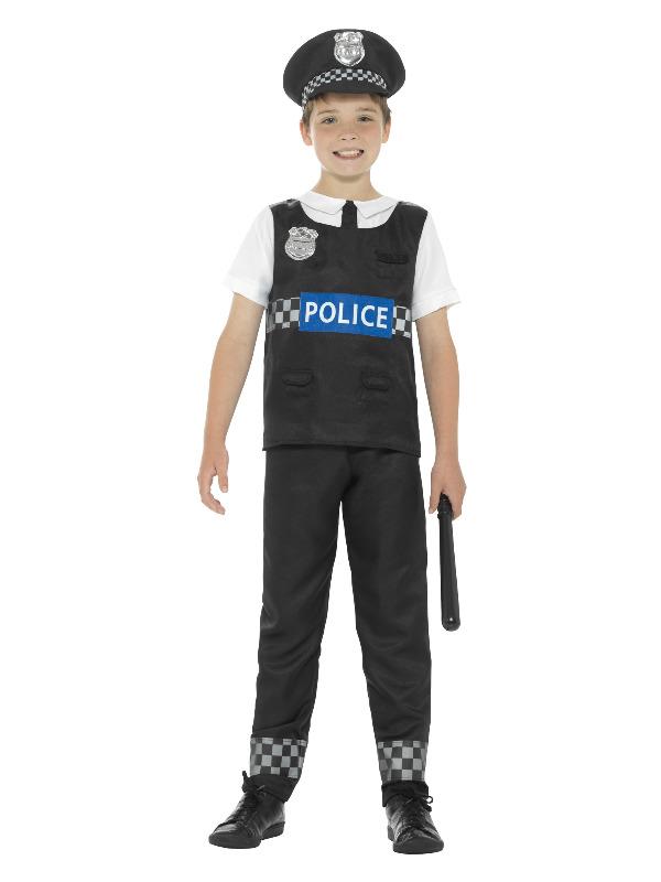 Cop Costume, Black & White