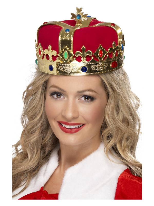 Queen's Crown, Red, with Jewels