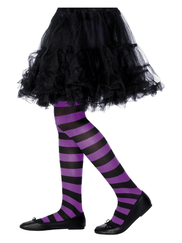 Tights, Purple & Black, Age 6-12
