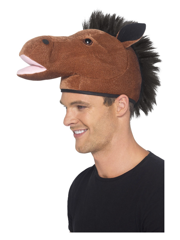 Horse Hat, Brown, with Mane