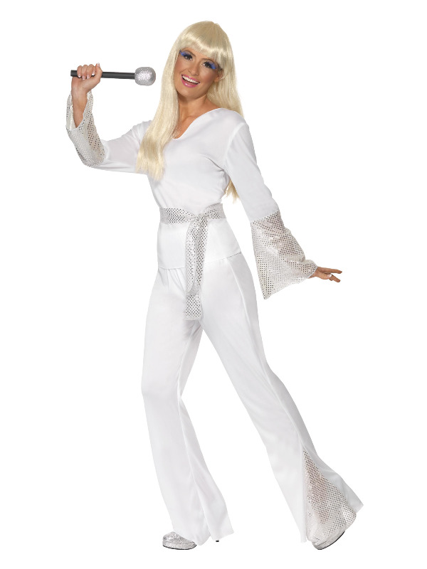 70s Disco Lady Costume, White