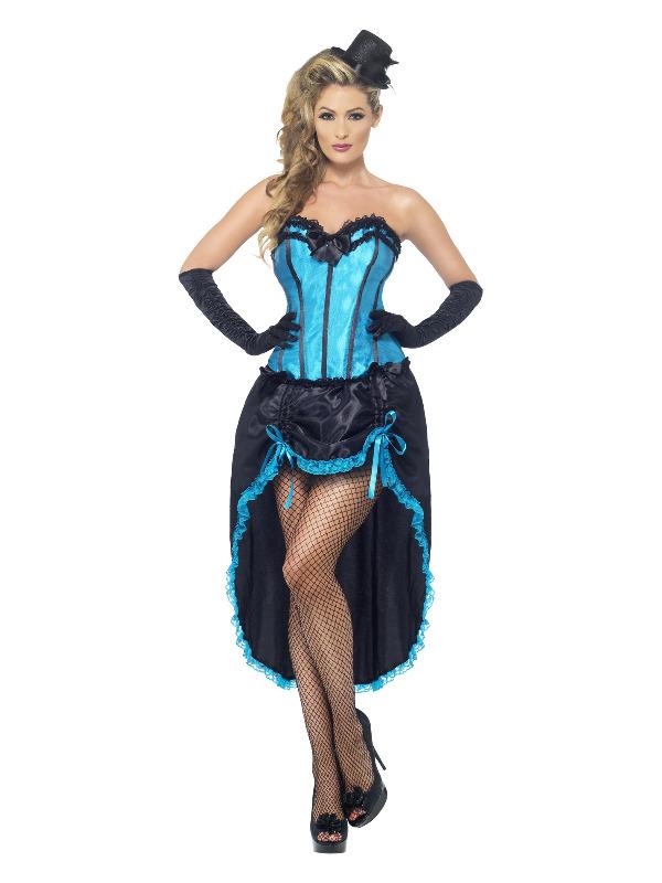 Burlesque Dancer Costume, Blue