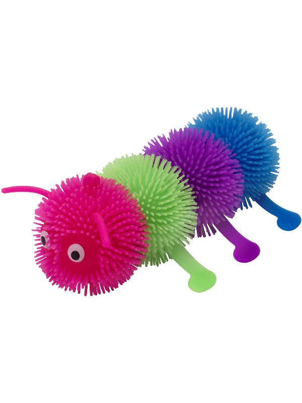 Puffer Ball Caterpillar, Multi-Coloured, 15cm / 6in, with Light Up, 12
