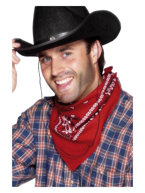 Cowboy Bandana, Red, Western Design