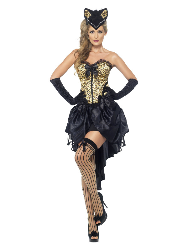 Burlesque Kitty Costume, Black