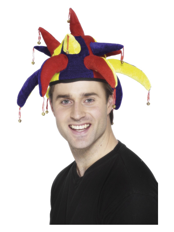 Jester Hat, Multi-Coloured, with Bells