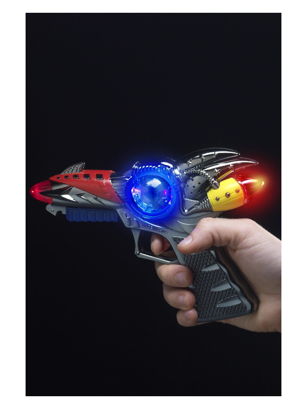 Light Up Supersonic Ray Gun, Assorted, 16cm/7in, 6