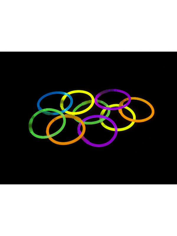 Glow Bracelet, Assorted Colours, 50 Pack