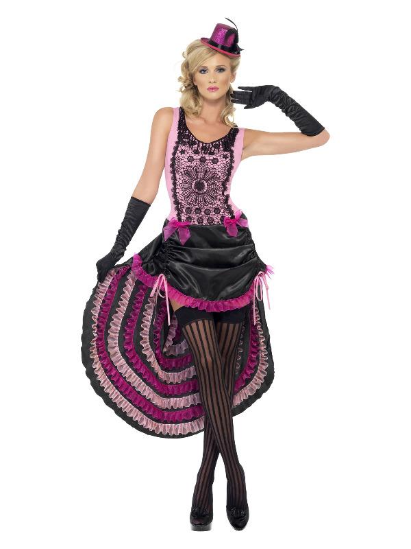 Burlesque Beauty Costume, Purple & Black