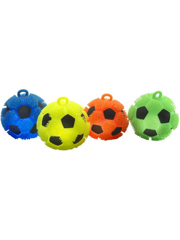 Puffer Football, Assorted Colours, Light Up 18 cm / 7in, 6