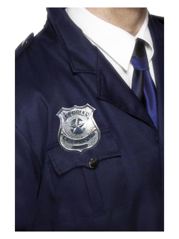 Metal Police Badge, Silver