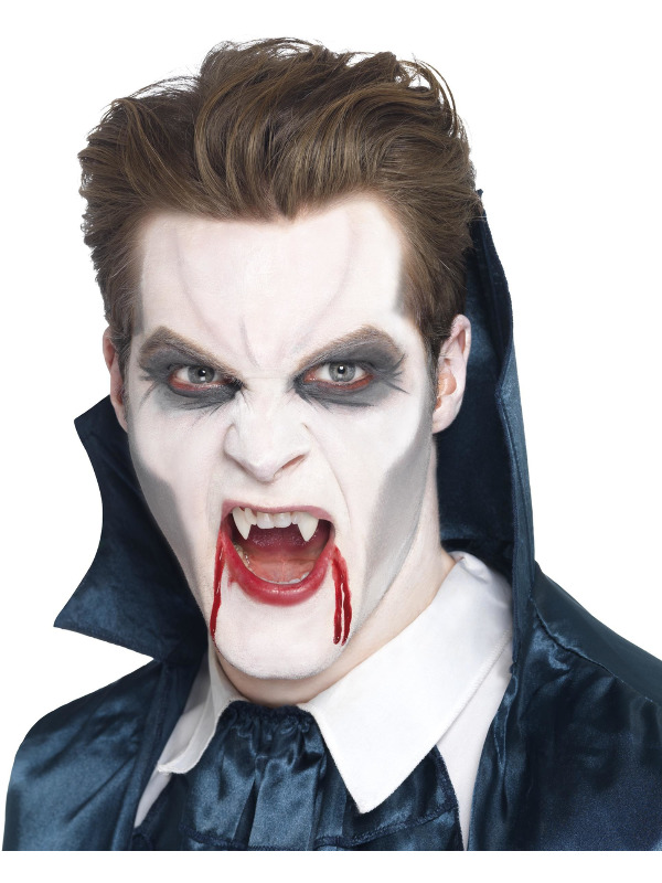 Smiffys Make-Up FX, Vampire Fangs, White, with Adhesive