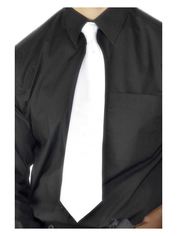 Deluxe White Gangster Tie, White