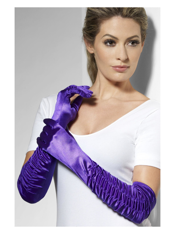 Temptress Gloves, Purple, Long