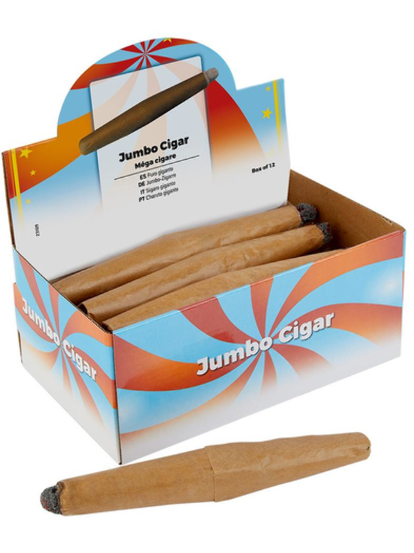 Jumbo Cigar, Brown, 12