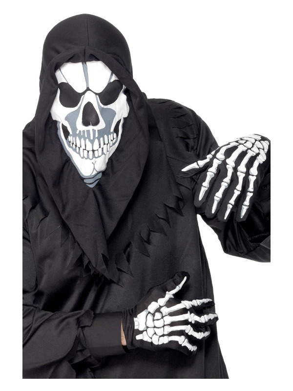 Skeleton Instant Kit, Black, with Hood and Gloves