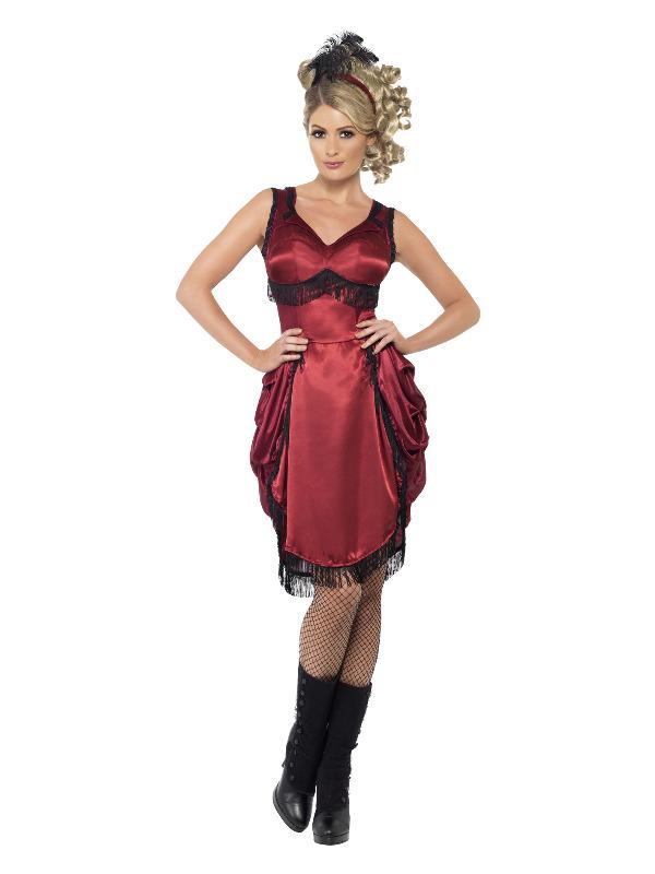 Western Bar Girl Costume, Red