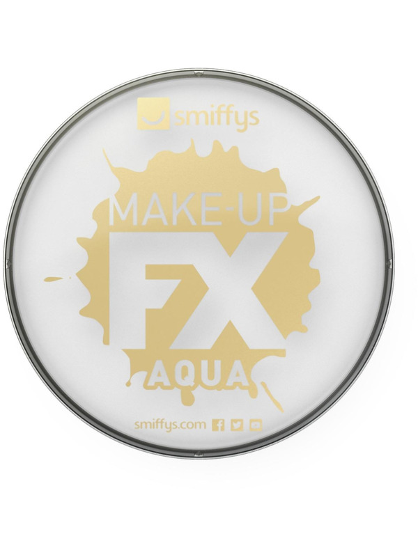 Smiffys Make-Up FX, White, Aqua Face and Body Paint, 16ml, Water Based