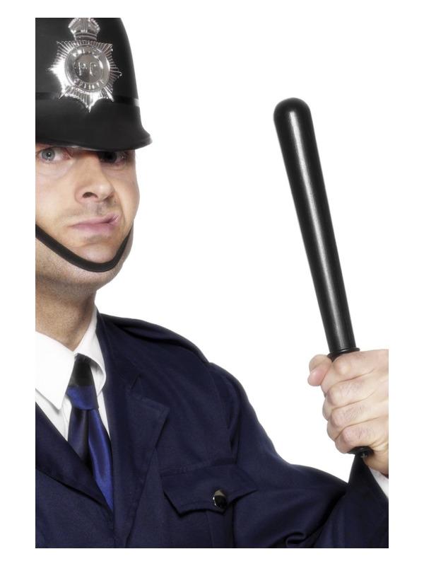 Squeaking Policeman's Truncheon, Black, PVC 33cm/13in