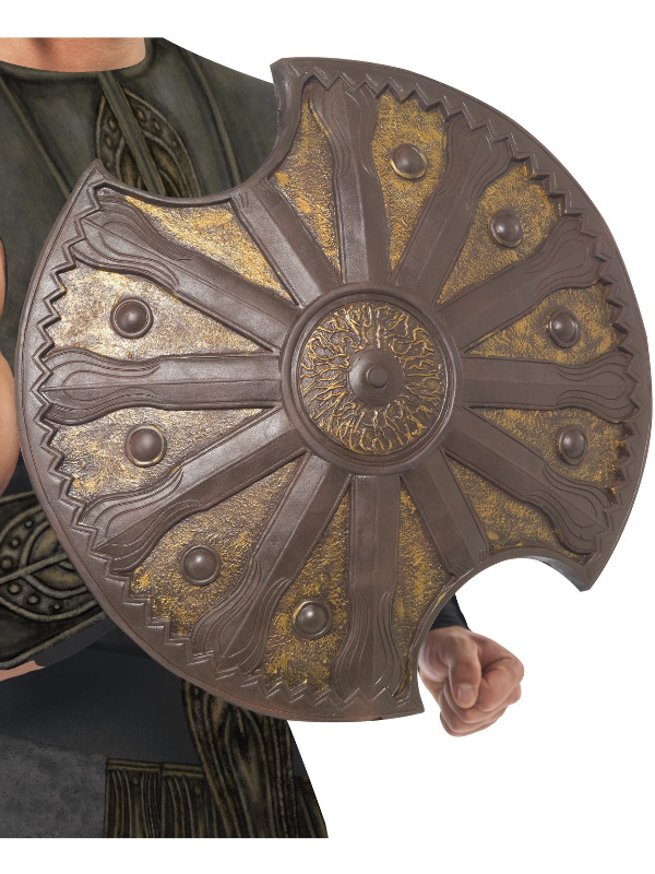 Achilles Shield, Brown, 50cm / 20in